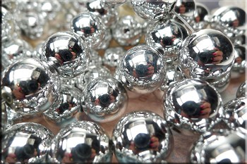 ZSOLDOUT / Acrylic Beads, 16mm Round Bright Silver Acrylic