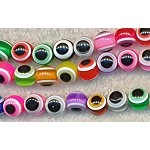 Acrylic Beads, Evil Eye Beads, 10mm Round Multicolor
