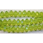 Acrylic Beads, Green Peridot 6mm Rondelle