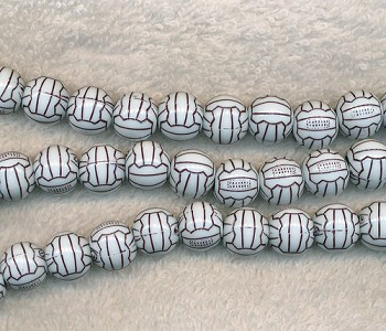 Soccer Ball Beads, Volleyball Beads, Sports Beads