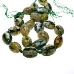 Agate Beads, Green Faceted Designer Beads