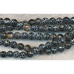 ZSOLDOUT - Fire Agate Beads, 8mm Round Black