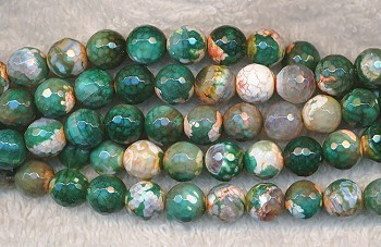 Fire Agate Beads - 8mm