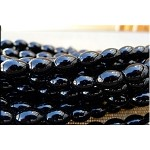 12x8.5mm Black Onyx Olive Rice Beads