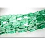 14x10x8mm Crystal Nugget Beads GREEN