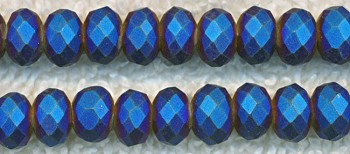 ZSOLDOUT - Crystal Beads, 10mm Rondelle COBALT STARDUST