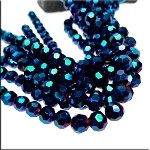 8mm Round Crystal Beads PURPLE Spark Electric BLUE