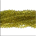 Crystal Beads, 6mm Bicone OLIVINE PERIDOT