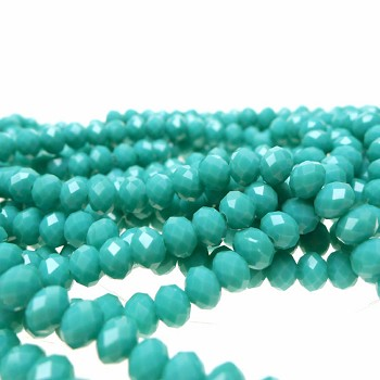 ZSOLDOUT - Crystal Beads, 6mm Rondelle BLUE TURQUOISE