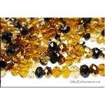 Crystal Beads, 8mm Rondelle Designer Mix TOPAZ