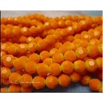 6mm Round Crystal Beads ORANGE YELLOW Ombre