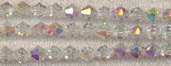 Crystal Beads, 8mm Bicone CRYSTAL AB