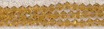 Crystal Beads, 6mm Bicone CITRINE