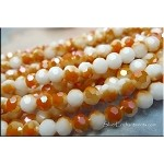 6mm Round Crystal Beads WHITE with SALSA Shimmer