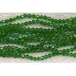 4mm Bicone Crystal Beads EMERALD Green