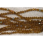 4mm Bicone Crystal Beads GOLDEN Brown TOPAZ