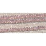 Crystal Beads, 6mm Spacers PINK LIGHT ROSE
