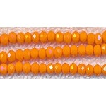4mm Rondelle Crystal Beads, PUMPKIN ORANGE