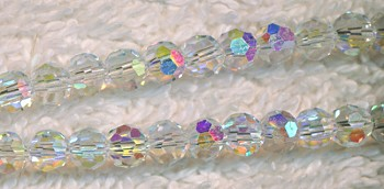 4mm Crystal AB Round Crystal Beads