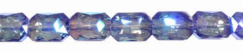 ZSOLDOUT - Crystal Beads, Rectangle 18x13mm BLUE VIOLET