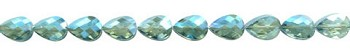 Teardrop Crystal Beads, 16x12mm TEAL BLUSH