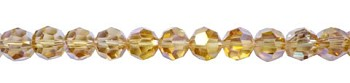 6mm Round Crystal Beads, LIGHT TOPAZ AB
