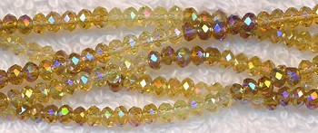 Crystal Beads, 3mm Rondelle TOPAZ Designer Mix