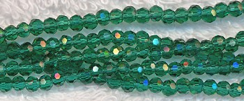 Crystal Beads, 3mm Round EMERALD