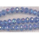 8mm Rondelle Crystal Beads Light SAPPHIRE AB