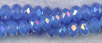 6mm Sapphire Jade AB Crystal Rondelle Beads