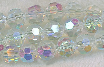 ZSOLDOUT - Crystal Beads, 10mm Round CRYSTAL AB