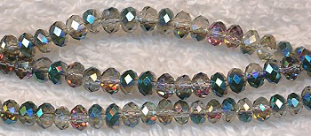 4mm Rondelle Crystal Beads Teal MYSTIC TOPAZ