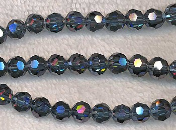 8mm Round Indian Sapphire Crystal Beads