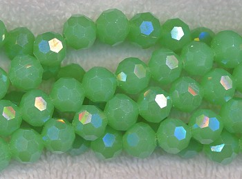 Crystal Beads, 10mm Round JADE Green