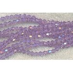 4mm Bicone Crystal Beads Light LAVENDER