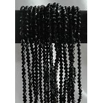 Crystal Beads, 6mm Bicone BLACK