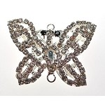 Crystal Butterfly Jewelry Connector Pendant