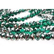Emerald Silver, Special Color 8mm Crystal Rondelles, Long Strand