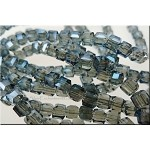 Crystal Beads, 4mm Cube INDIAN SAPPHIRE Shimmer