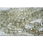 Crystal Beads, 6mm Cube GOLDEN GLOW