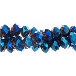 Crystal Beads, 8mm Rondelle METALLIC COBALT BLUE