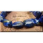 Lapis Lazuli Bead Pendants, Rectangle 20x15mm