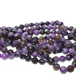 ZSOLDOUT - Fire Agate Beads, Purple 8mm Round