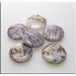 25mm Coin Flower Jasper Beads 6 per bag