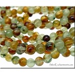 ZSOLDOUT / Garnet Beads, 5.5-6mm Round Natural Grossular Garnet