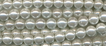 ZSOLDOUT - Glass Pearls, 12mm WHITE
