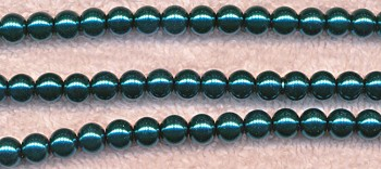 Glass Pearls, 6mm TEAL