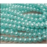 ZSOLDOUT / Glass Pearls, 10mm AQUA BLUE
