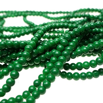 4mm Glass Pearl Round Beads Opaque JADE Glass Pearls