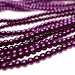 ZSOLDOUT - Glass Pearls, 4mm ROYAL PLUM PURPLE
